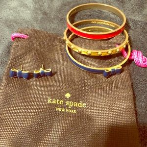 Kate Spade bangle & earrings set
